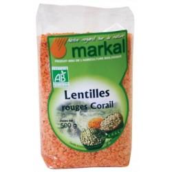 Lentilles rouges corail 500 g