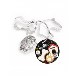 Cintre 3 decoupoirs inox chien