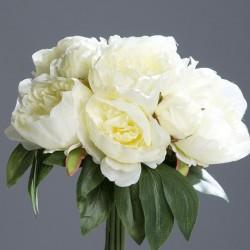 Bouquet pivoine 35cm-crem