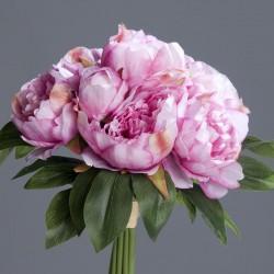 Bouquet pivoine 35cm-lavand